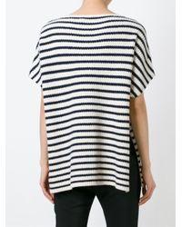 Tory Burch | Blue Short-sleeved Sweater | Lyst
