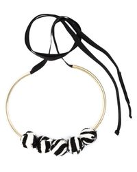 Marni | Multicolor Zebra Pattern Necklace | Lyst