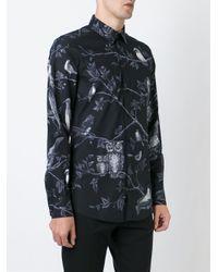 Dolce & Gabbana - Black Bird Print Shirt for Men - Lyst