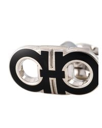 Ferragamo - Metallic Gancini Cufflinks for Men - Lyst