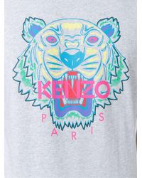 KENZO - Gray 'tiger' T-shirt for Men - Lyst