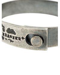 Tobias Wistisen | Metallic Logo Engraved Bangle for Men | Lyst
