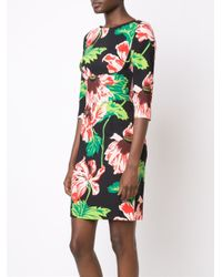 Stella McCartney | Black Floral Print Dress | Lyst