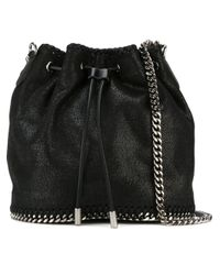 Stella McCartney | Black 'falabella' Bucket Shoulder Bag | Lyst