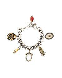 Alexander McQueen | Metallic Charm Bracelet | Lyst