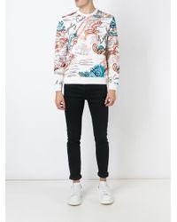 Alexander McQueen - Multicolor Lengendary Creature Print Sweatshirt for Men - Lyst