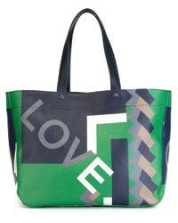 Ferragamo | Multicolor Love Geometric Print Tote for Men | Lyst