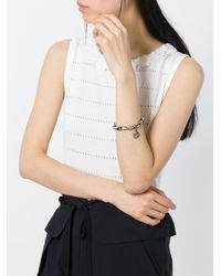 Loree Rodkin - Black Beaded Diamond Hamsa Charm Bracelet - Lyst