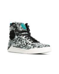 DIESEL - Black 'onice' Hi-top Sneakers for Men - Lyst