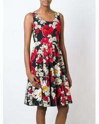 Dolce & Gabbana - Multicolor Floral Print Dress - Lyst