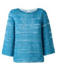 M Missoni | Blue Lurex Sweater | Lyst