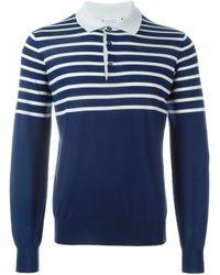 Brunello Cucinelli | Blue - Striped Polo Sweater - Men - Cashmere/wool - 54 for Men | Lyst