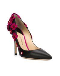 Paul Andrew | Black Ordos Flower Appliqué Pumps | Lyst