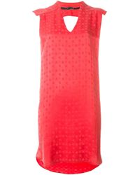 8pm | Red Allover Star Print Loose Fit Dress | Lyst