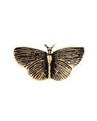 Saint Laurent - Metallic Moth Ring - Lyst