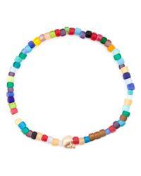 Luis Morais - Metallic Side Skull Beaded Bracelet - Lyst