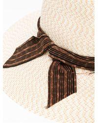 Baja East - Natural Straw Hat - Lyst