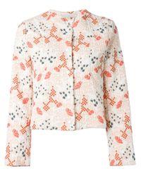 Vanessa Bruno | White Brocade Jacket | Lyst