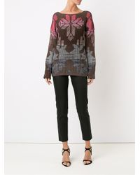 Cecilia Prado - Brown Geometric Pattern Knitted Blouse - Lyst
