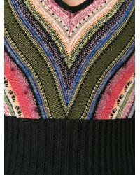 Cecilia Prado - Black V-neck Knitted Dress - Lyst