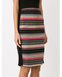 Cecilia Prado - Black - Knitted Pencil Skirt - Women - Acrylic/polyamide/viscose - G - Lyst