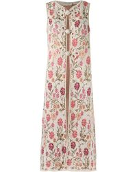 Cecilia Prado - White Knitted Long-length Waistcoat - Lyst