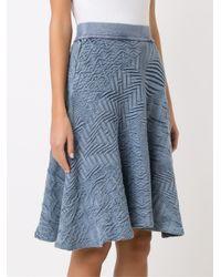 Cecilia Prado - Blue A-line Knitted Skirt - Lyst