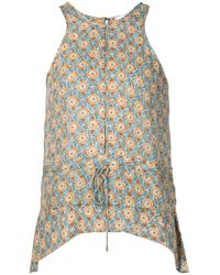 10 Crosby Derek Lam | Blue - Printed Sleeveless Top - Women - Silk - 0 | Lyst