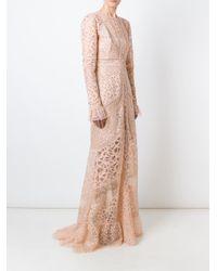 Elie Saab - Blue 'melrose' Lace Dress - Lyst
