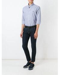 Ralph Lauren - Blue Slim Fit Checked Poplin Shirt for Men - Lyst