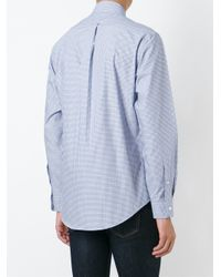 Pink Pony   Blue Slim Fit Checked Poplin Shirt for Men   Lyst