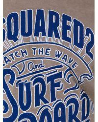 DSquared² - Brown Logo T-shirt for Men - Lyst