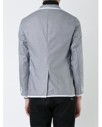 Education From Young Machines - Gray Contrast Trim Jacket for Men - Lyst