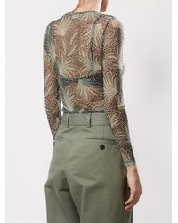 Dries Van Noten - Green Sheer Printed T-shirt - Lyst