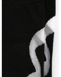 Henrik Vibskov - Black Sheer Wavy Stripe Socks - Lyst