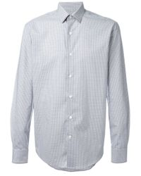 Lanvin | Gray Slim Fit Shirt for Men | Lyst
