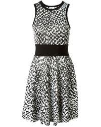 Issa | Black Intarsia Knit Sleeveless Dress | Lyst