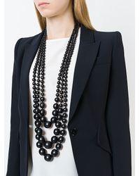 Monies - Black Beaded Necklace - Lyst