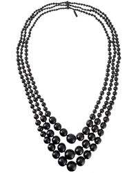 Monies | Black Beaded Necklace | Lyst