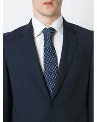 Canali - Blue Jacquard Tie for Men - Lyst
