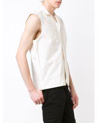 Maison Margiela - White Sleeveless Shirt - Lyst