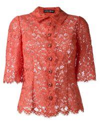 Dolce & Gabbana | Black Lace Shirt | Lyst