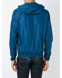 Michael Kors - Blue Zipped Hooded Jacket for Men - Lyst
