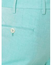 PT01 - Blue Slim Fit Trousers for Men - Lyst