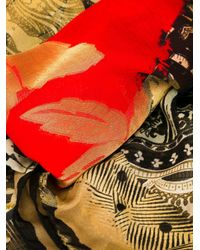 Etro - Black Mixed-print Scarf - Lyst
