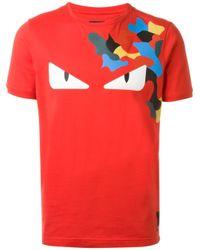 Fendi Bag Bugs T Shirt In Red For Men Lyst