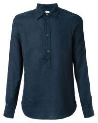 Aspesi - Blue Polo Shirt for Men - Lyst