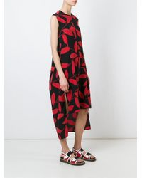 Marni - Black Leaf Print Dress - Lyst