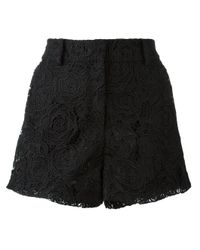 McQ - Black Guipure Lace Shorts - Lyst