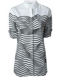 Neil Barrett - Black Zig-zag Print Shirt - Lyst